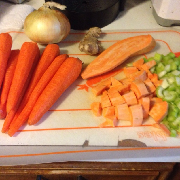 Ingredients for Carrot Yam Ginger Soup