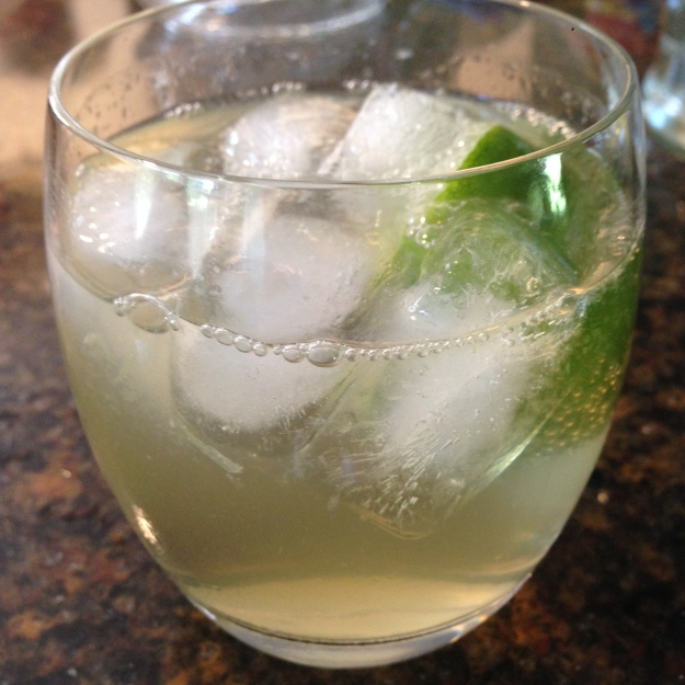 Moscow Mule: 1 1/2 - 2 oz. vodka, juice of half a lime, top of with high quality ginger ale (I like Fever Tree)