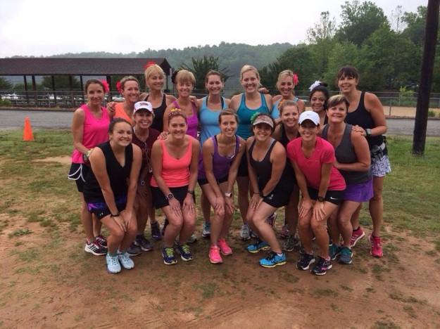 The women before our run at Salem Lake on Saturday